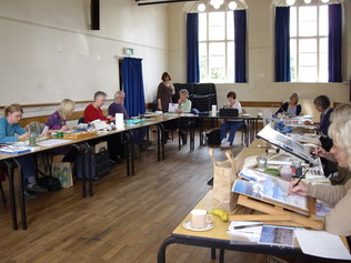 Photo shows workshop with Celia Maddison